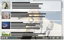 Playlist over Video with vertical playlist