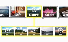 Videos by categories with stack photos